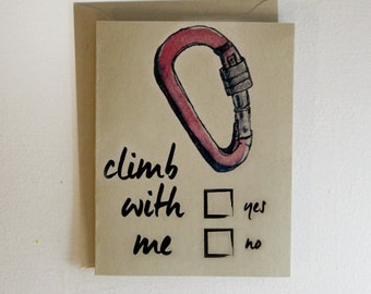 Climb With Me Carabiner Valentine