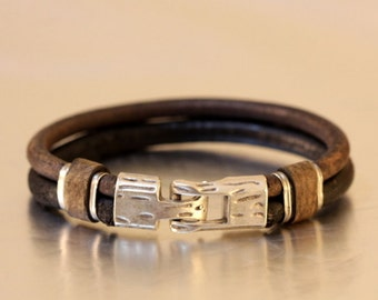 FREE SHIPPING mens  leather bracelet handmade leather jewellery