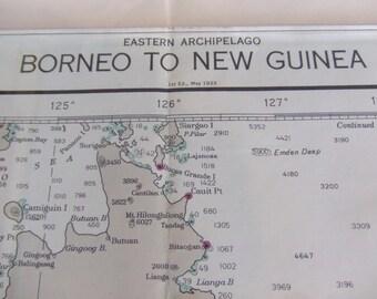 Borneo to New Guinea ~ Eastern Archipelago - Incl. Mindanao, Celebes Sea, Molukka, Ceram, Banda and Flores Sea - Nautical Chart #7800