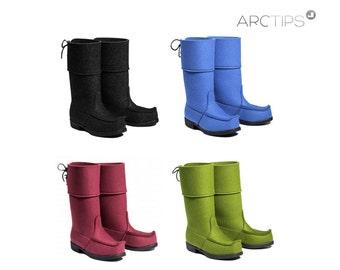 ARCTIPS CLASSIC wool felt Lappish boots, multiple colors