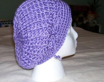 Adorable crochet slough hat