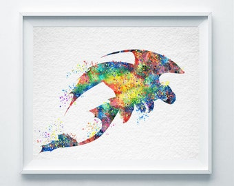 Toothless Fury Watercolor Abstract Print How to Train Your Dragon Poster Nursery Art Illustration Children Boys Room Decor Gift for Him A58