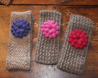 Headbands for girls handcrafted in Quebec of alpaca fiber