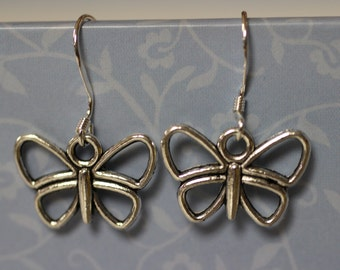 Butterfly Dangle Earrings. (S-150002