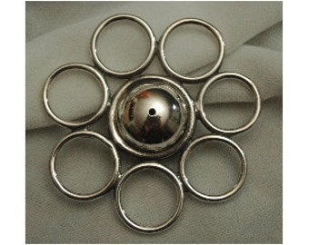 Seven Ring Silver Rattle/Teething Toy/Pendant