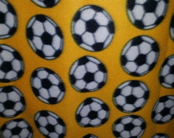 Soccer Ball All Over Polar Fleece Print, 59'' Wide, *sold by the yard*