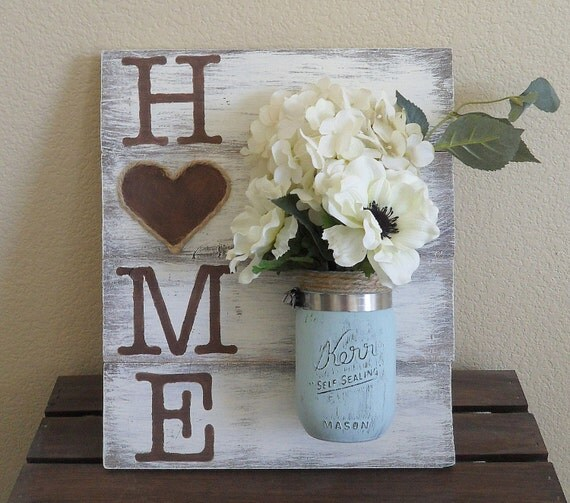 mason jar wood wall hanging home sign home decor