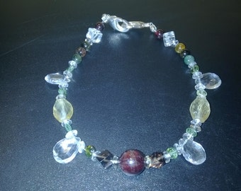 Spider eyes semiprecious gemstones bracelet