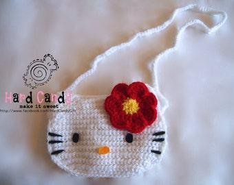 Crochet Hello Kitty handbag /purse for little girl