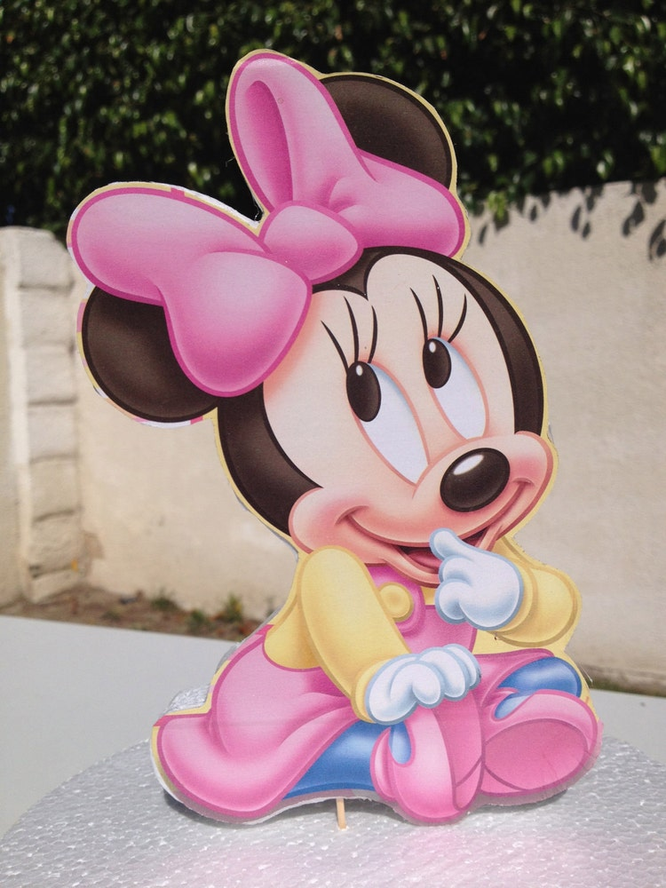 Baby Minnie Mouse Cake Topper For Baby Shower By