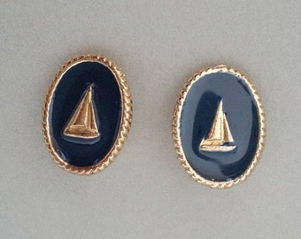 Sailboats with Navy Blue Enamel