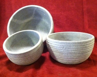 Soup & Salad Bowls made of Soapstone