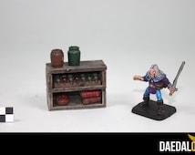 Miniature shelf figurines 28mm type warhammer games for d & d pathfinder heroquest