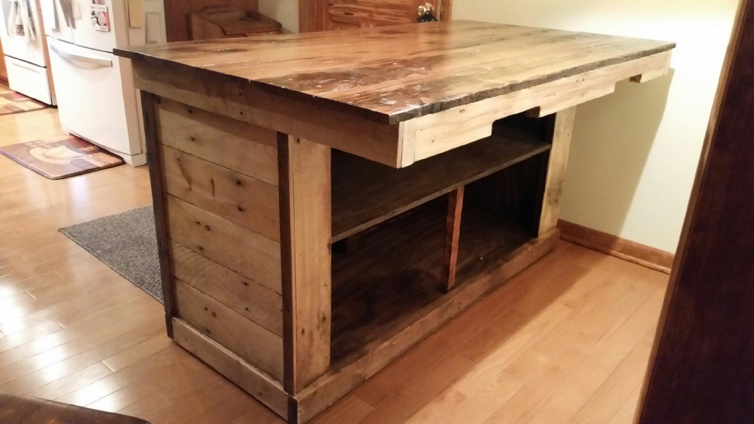 kitchen island or bar made from reclaimed wood by kitchen island made from reclaimed wood droidsure com