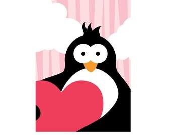 Autographed prints limited edition - Tovi the Penguin