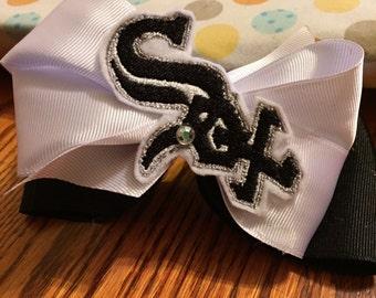 White Sox Hair Bow