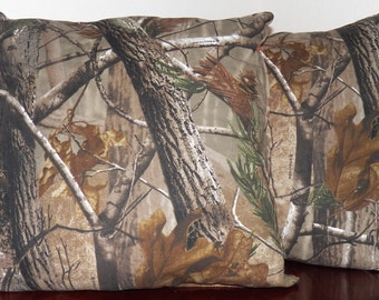 Realtree Camouflage Throw Pillow Set of 2 *New Handmade*