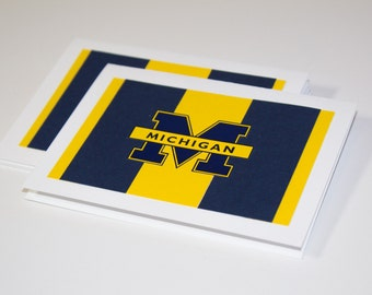 University of Michigan Wolverines Maize and Blue Greeting Cards | Buy Any 4 Cards, Get 1 FREE!