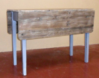 Drop Leaf Table, Reclaimed Wood, Vintage, Rustic