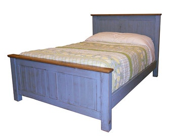 Bed, Headboard, Reclaimed Wood, Bed, Vintage and Rustic