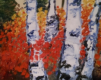 Birch Grove (Set of 3) Wrapped Canvas