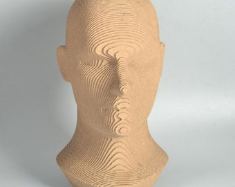 Human Head - DIY Cardboard Craft