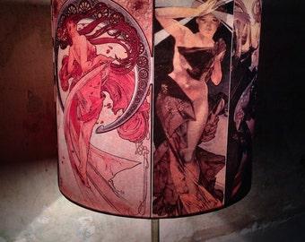 Vintage Czech Parisian Artist  Alphonse Mucha Inspired Lamp shade 'MUCHA''