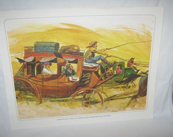 StageCoach Race to Carson City painted for Harolds Club by Nick Galloway