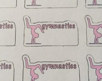 Gymnastics Stickers - Set of 12