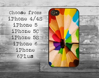 Color pencils phone cover - iPhone 4/4S, iPhone 5/5S/5C, iPhone 6/6+, iPhone 6s/6s Plus case - pencil set cell iPhone case
