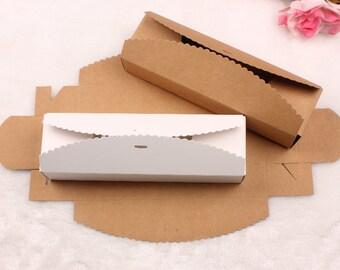 50pcs  21.5*7*4.3 cm Kraft paper box Macaron box Paper gift box