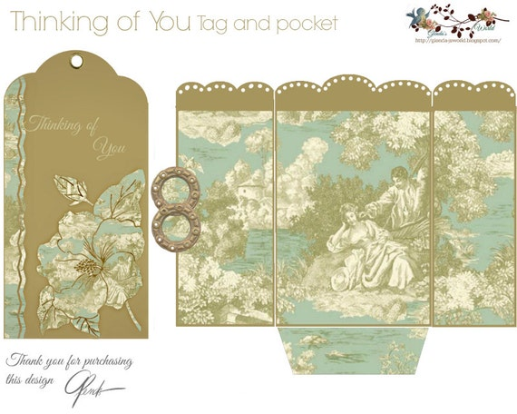 Thinking of You Card and Matching Pocket