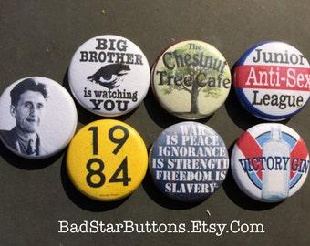George Orwell 1984 Novel Button Set