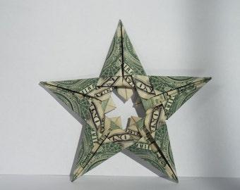 Dollar Bill Origami Five Pointed Star