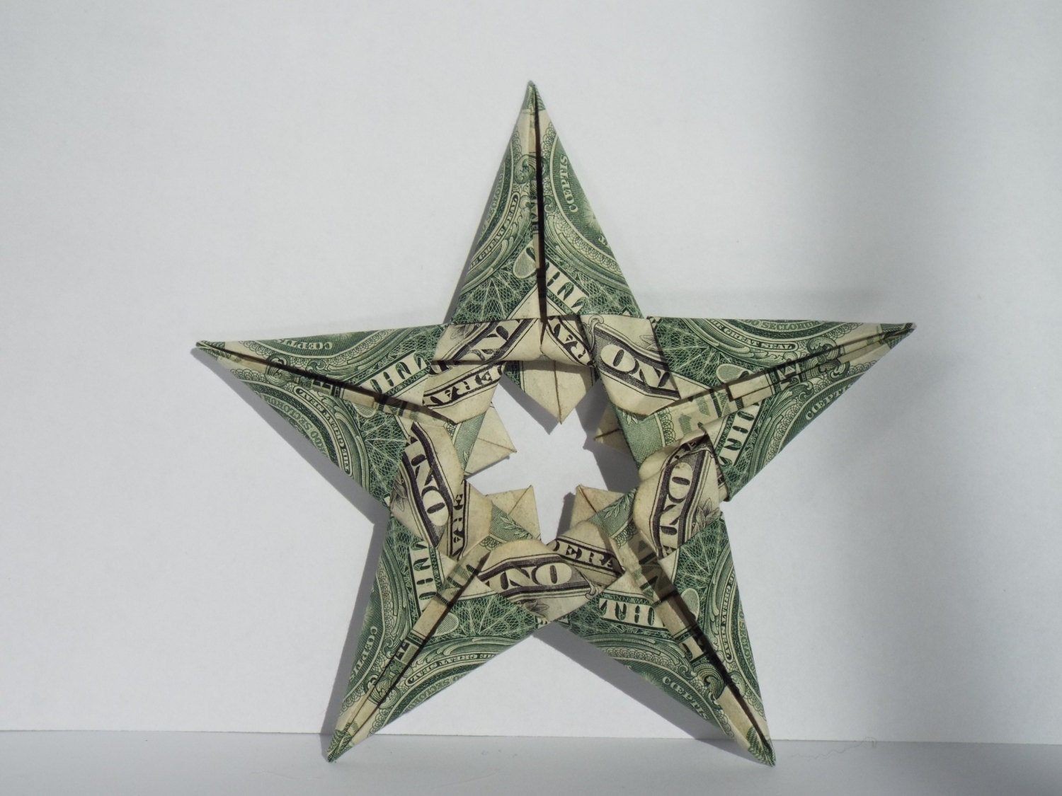 Dollar Bill Origami Five Pointed Star - photo#2