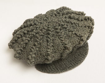 Hemp Crochet Newsboy Beanie