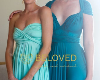 Convertible Infinity Dress Bridesmaid Dress Spearmint / Green