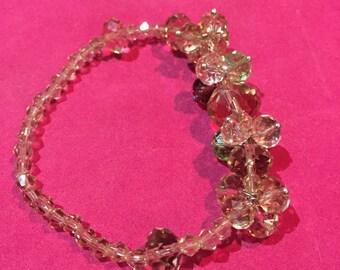 spring stretch bracelet, neutral colors