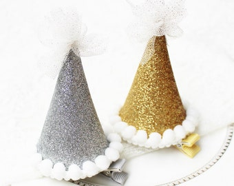 Cute party hat hair clip (Great for Christmas)