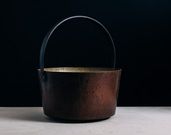 Vintage Copper Preserving Pan (French)