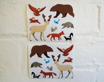 Woodland Animals Stickers.