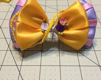 "4"" Rapunzel inspired Hair bow"