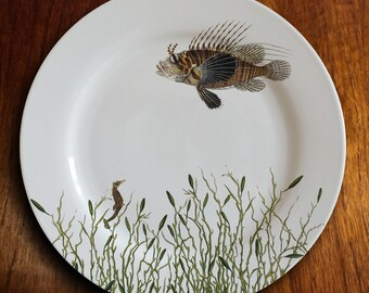 "fishy fish Dinner Plate - ""l'admirateur"""