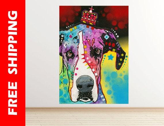 Dog Wall Decal Bedroom Pop Art Dog Wall Sticker Modern Art