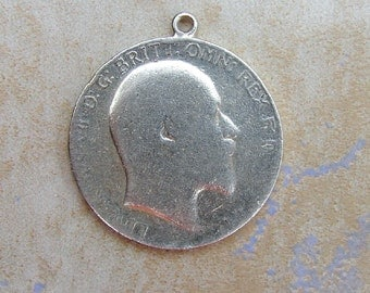 King Edward Two 2 Shilling One Florin British Coin Bracelet Charm or Pendant