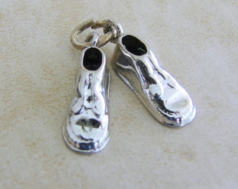 Pair of Newborn Baby Shoes Bootie Vintage Sterling Siler Bracelet Charm