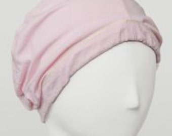 Chemo sleep cap for cancer patients with hair loss. 100% cotton soft cancer hat.