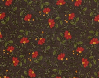 Moda Fabric ~ Gobble Gobble by Sandy Gervais ~ Floral Fabric