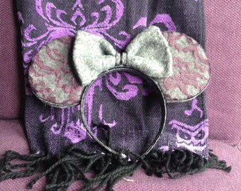 Wool and lace Minnie Ears