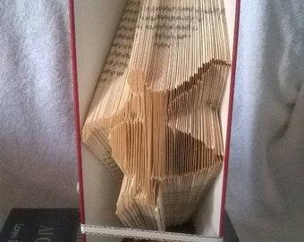 Book folding art pattern for a ballerina